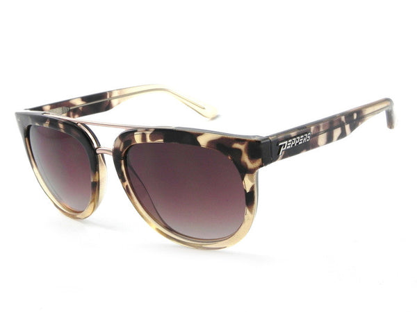 Peppers - Babylon Tortoise Fade Sunglasses, Brown Lenses
