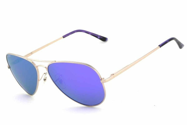 Peppers - Maverick Gold Sunglasses, Purple Mirror Lenses