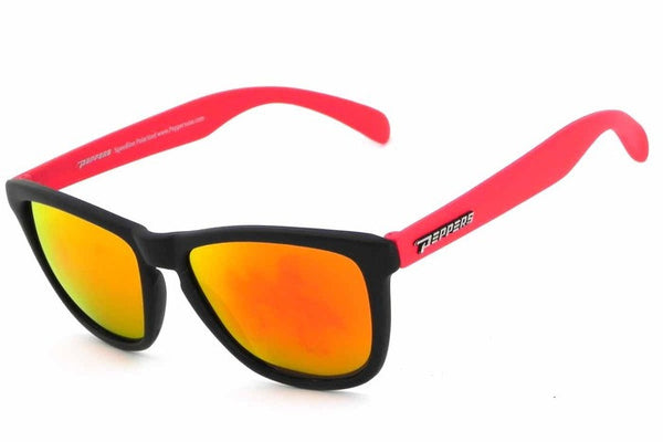 Peppers - Breakers Black & Red Sunglasses, Red Mirror Lenses