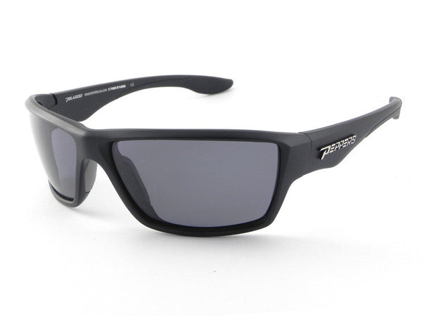 Peppers - Pipeline Matte Black Sunglasses, Smoke Lenses