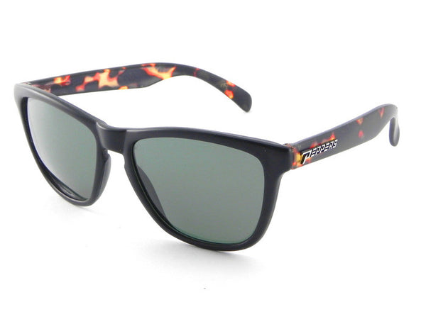 Peppers - Breakers Black + Tortoise Temples Sunglasses, G-15 Lenses