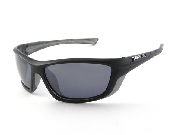 Peppers - Lambert Matte Black Sunglasses, Smoke Lenses