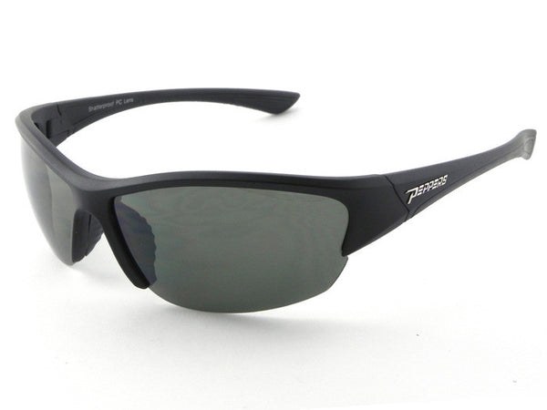 Peppers - Kichturn Matte Black Sunglasses, G-15 Lenses