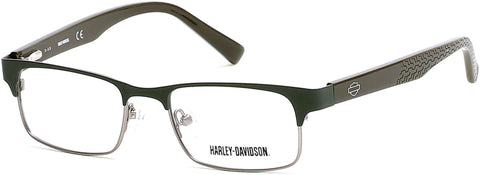 Harley-Davidson - HD0123T Dark Green Eyeglasses / Demo Lenses