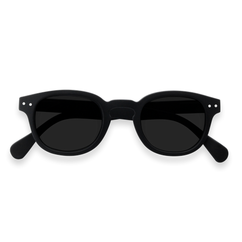 Izipizi - #C Black Sunglasses / Grey Lenses