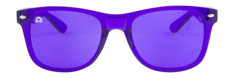 RainbowOPTX - Translucent Transparent Sunglasses / Indigo Lenses