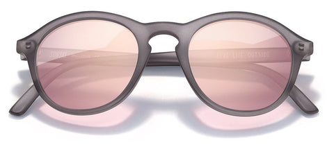 Sunski Singlefin Grey Sunglasses / Rose Polarized Lenses