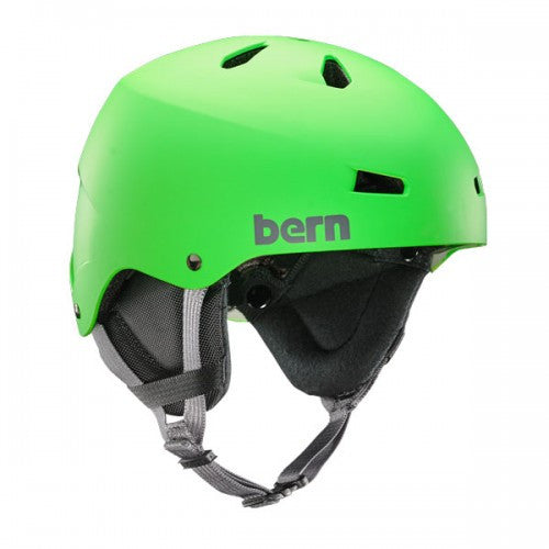 Bern - Team Macon Matte Neon Green Snow Helmet