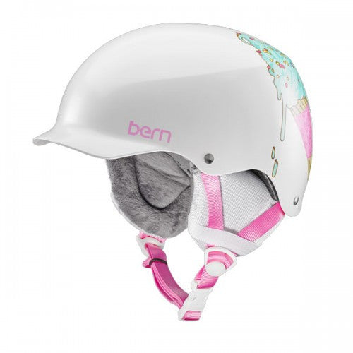 Bern - Team Muse Satin White Ice Cream Snow Helmet