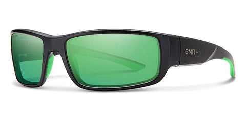 Smith - Survey Matte Black Sunglasses / Carbonic Polarized Green Mirror Lenses