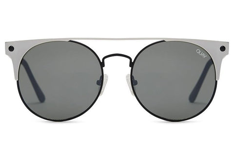 Quay The In Crowd Black Silver Sunglasses