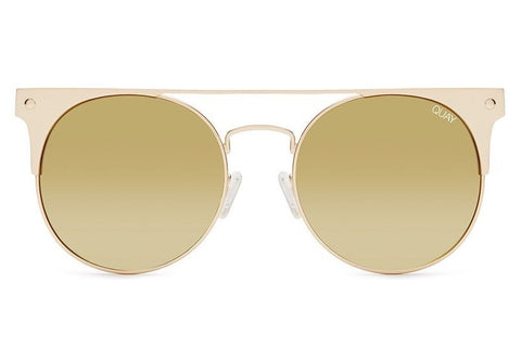 Quay The In Crowd Gold / Gold Mirror Sunglasses