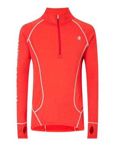 Perfect Moment - Men's Half-Zip Red Thermal Sweater