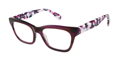 Scojo New York - Tiffany Place Opulent Purple Reader Eyeglasses / +2.50 Lenses