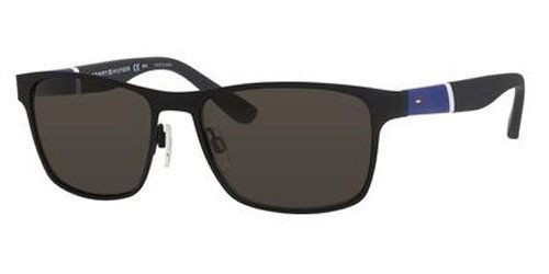 Tommy Hilfiger - Th 1283 S 55mm Matte Black Sunglasses / Brown Gray Lenses