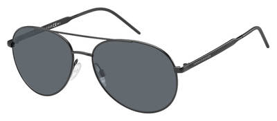 Tommy Hilfiger - Th 1653 S Matte Black Sunglasses / Gray Blue Lenses