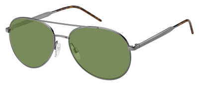 Tommy Hilfiger - Th 1653 S Dark Ruthenium Sunglasses / Green Lenses