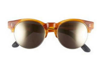 TOMS Charlie Rae Amber Ale Sunglasses, Ivory Mirror Lenses