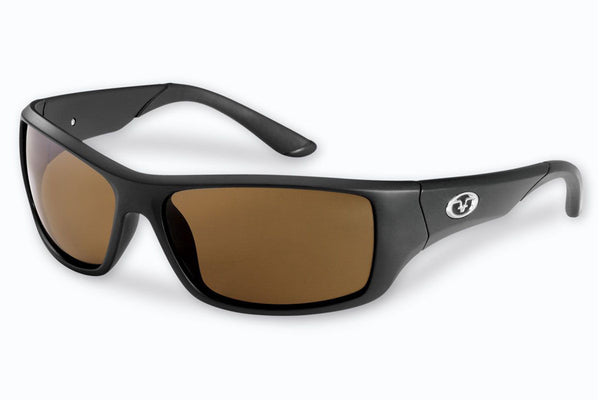 Flying Fisherman - Triton 7391 Matte Black Sunglasses, Amber Lenses