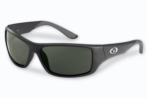 Flying Fisherman - Triton 7391 Matte Black Sunglasses, Smoke Lenses