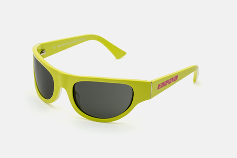 Super - Reed 58mm Yellow Sunglasses / Black Lenses