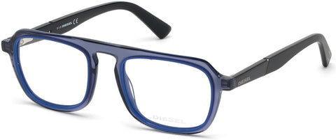Diesel - DL5288 Shiny Blue Eyeglasses / Demo Lenses