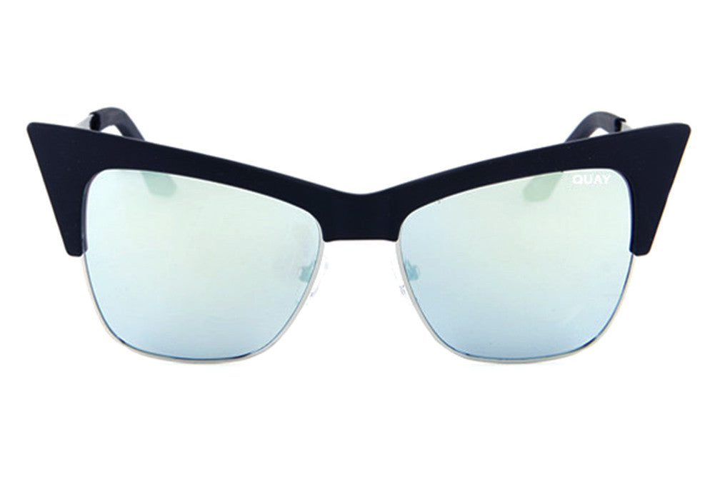 Quay x Desi Perkins T.Y.S.M. Black / Mint Sunglasses