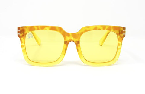 RainbowOPTX - Unit Leopard Sunglasses / Yellow Lenses