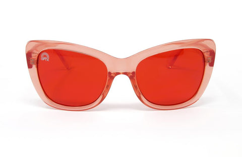 RainbowOPTX - Vega Transparent Red Sunglasses / Red Lenses