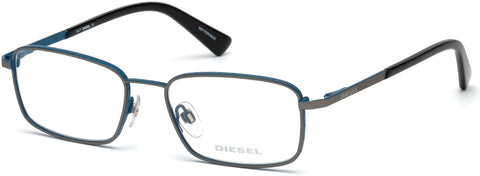 Diesel - DL5273 Matte Gunmetal + Blue Eyeglasses / Demo Lenses