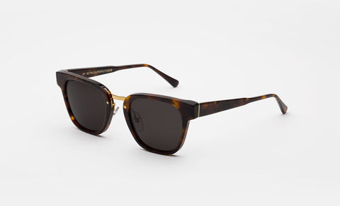 Super - Giorno Classic Havana Sunglasses / Black Lenses