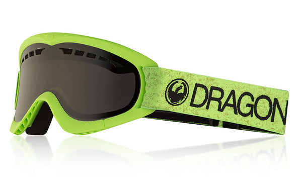 Dragon - DXS Green Snow Goggles / Dark Smoke Lenses