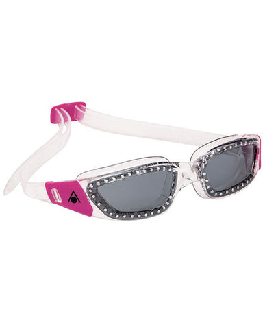 Aqua Sphere - Kameleon Ladies Transparent Pink Accents Swim Goggles / Smoke Lenses