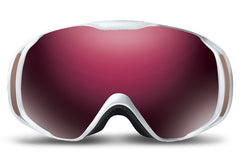 Native - Upslope Hesher White Goggles, Silver Mirror Lenses