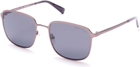 Kenneth Cole - KC7231 Matte Gunmetal Sunglasses / Smoke Polarized Lenses