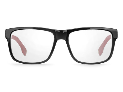 Carrera - 1101 Black White Stripe Eyeglasses / Demo Lenses