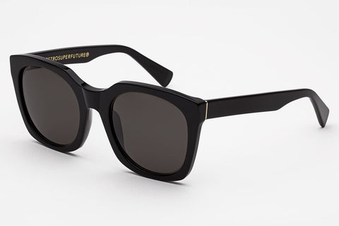 Super - Quadra Black Sunglasses