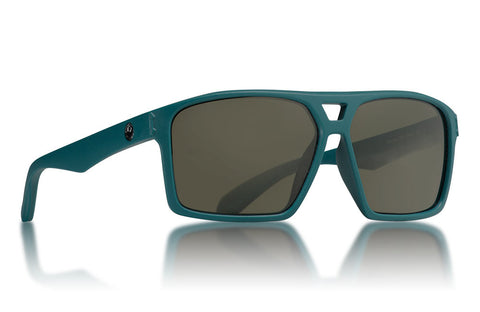 Dragon - Channel Matte Deep Sea Sunglasses / Green Lenses