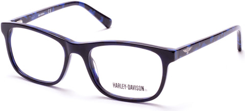 Harley-Davidson - HD0135T Shiny Blue Eyeglasses / Demo Lenses