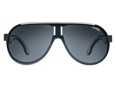 Carrera - 1008 Matte Black Sunglasses / Gray Blue Polarized Lenses