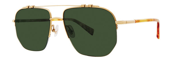 Seraphin - Valders Pale Gold Sunglasses / Green Lenses