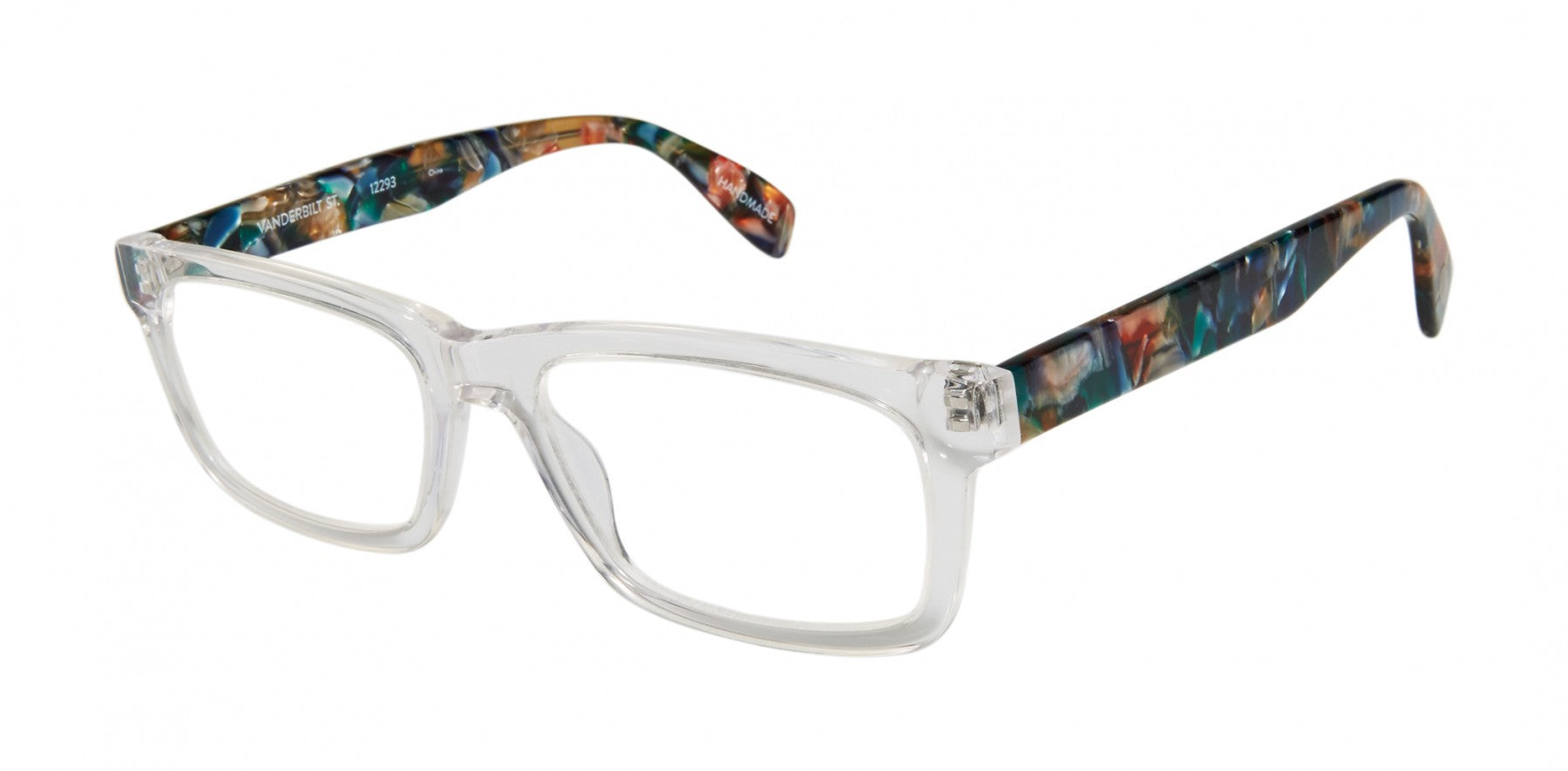 Scojo New York - Vanderbilt Street Crystal Mosaic Reader Eyeglasses / +1.25 Lenses