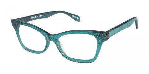 Scojo New York - Venus Lane Starlight Teal Reader Eyeglasses / +2.00 Lenses