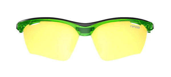 Tifosi - Vero Crystal Neon Green Sunglasses / Clarion Yellow + AC Red + Clear Lenses