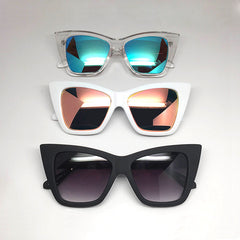 Quay Vesper Clear / Blue Sunglasses
