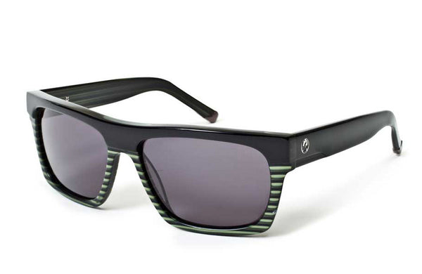 Dragon - Viceroy Black Green Stripe / Grey Sunglasses