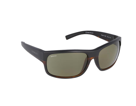 Serengeti - Bergamo Matte Black Sunglasses / PhD 2.0 Polarized 555nm Green Lenses