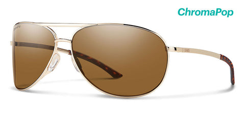 Smith - Serpico 2 Gold Sunglasses / ChromaPop Polarized Brown Lenses