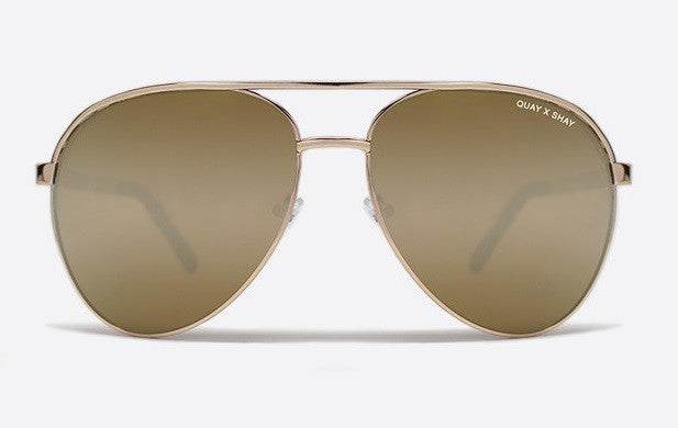 Quay x Shay Mitchell Vivienne Gold / Gold Sunglasses