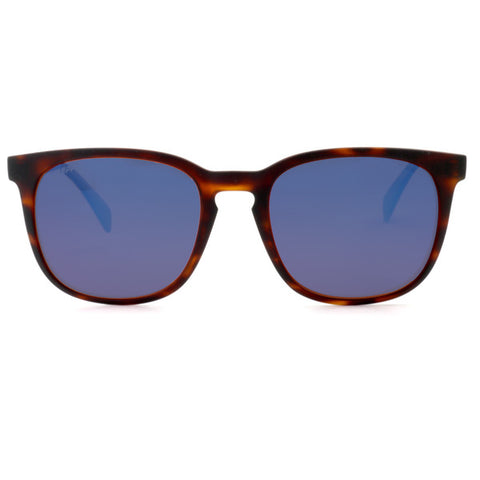 b0e0729982 Peppers - Nami Matte Tortoise Sunglasses   Blue Mirror Lenses